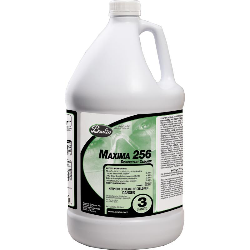 Maxima 256 Disinfectant Cleaner; 1 Gallon Ea; 4/cs